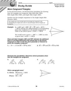 More Congruent Triangles Worksheet