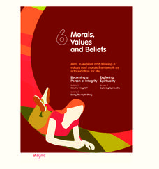 Morals, Values, and Beliefs Unit