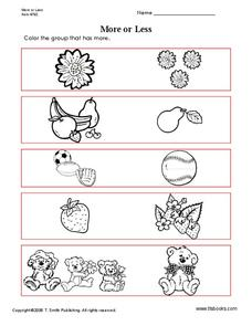 More or Less Worksheet