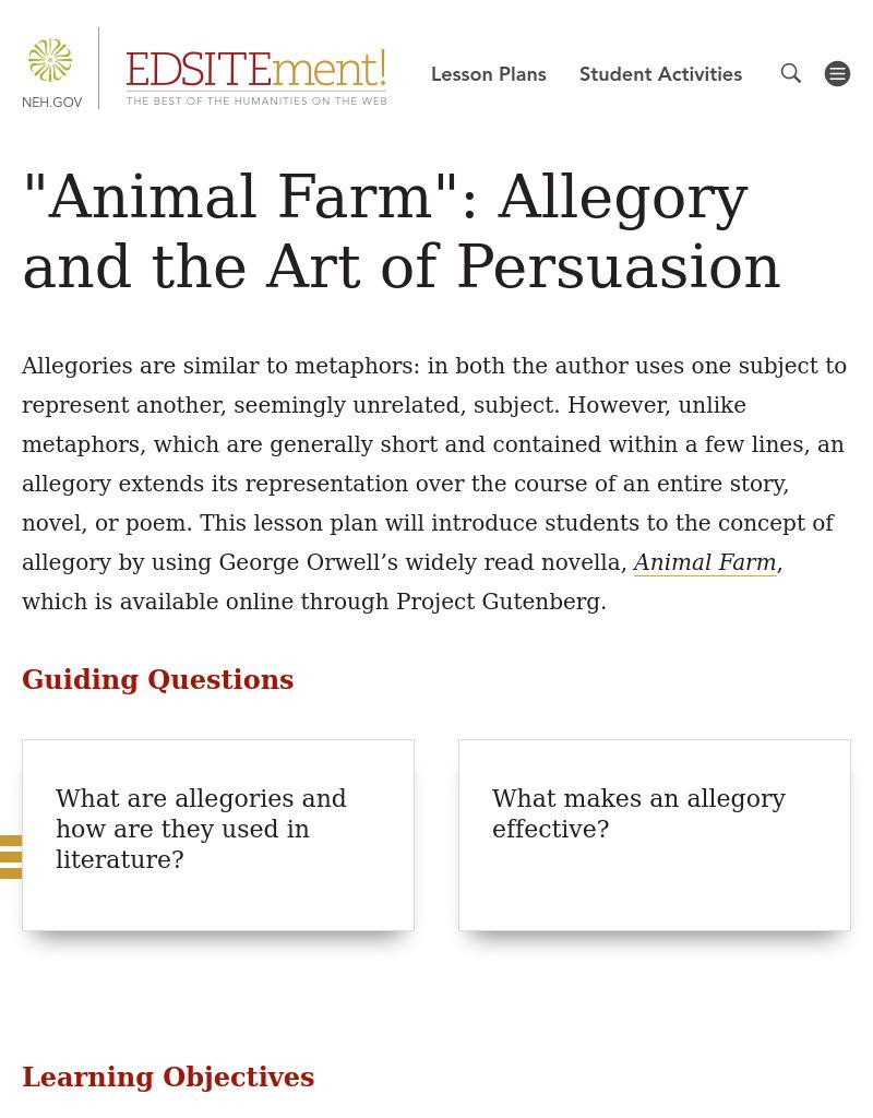 animal farm literary analysis