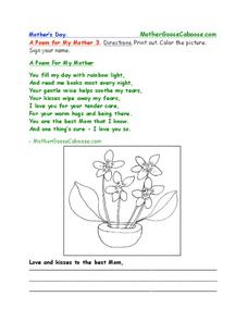 Mother's Day Worksheet