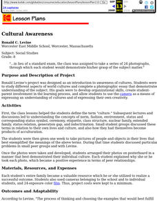Cultural Awareness Lesson Plan
