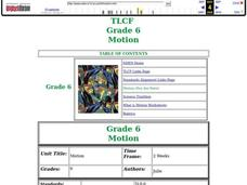 Motion Lesson Plan