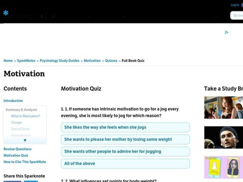 Motivation Worksheet