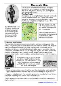Mountain Men Worksheet