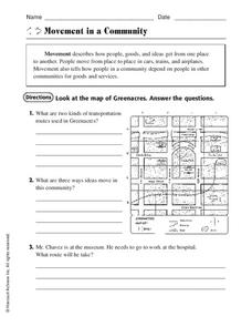 Movement in a Community Worksheet