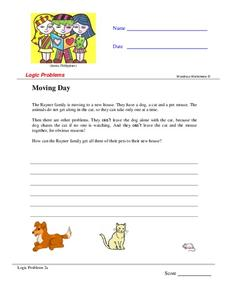 Moving Day Worksheet