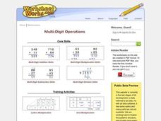 Multi-Digit Multiplication Worksheet