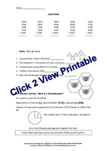 Multiple Digit Addition 2 Worksheet