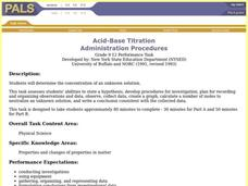 Acid-Base Titration Lesson Plan