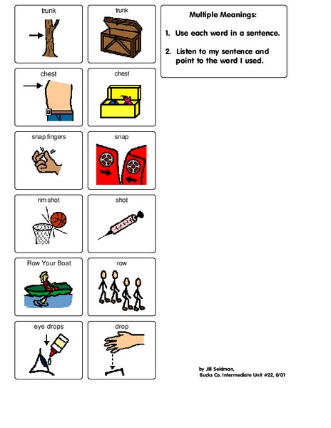 Multiple Meaning Words Worksheet For 2nd Grade Lesson Planet