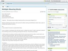Multiple-Meaning Words Lesson Plan