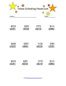 Multiplication 2 Worksheet