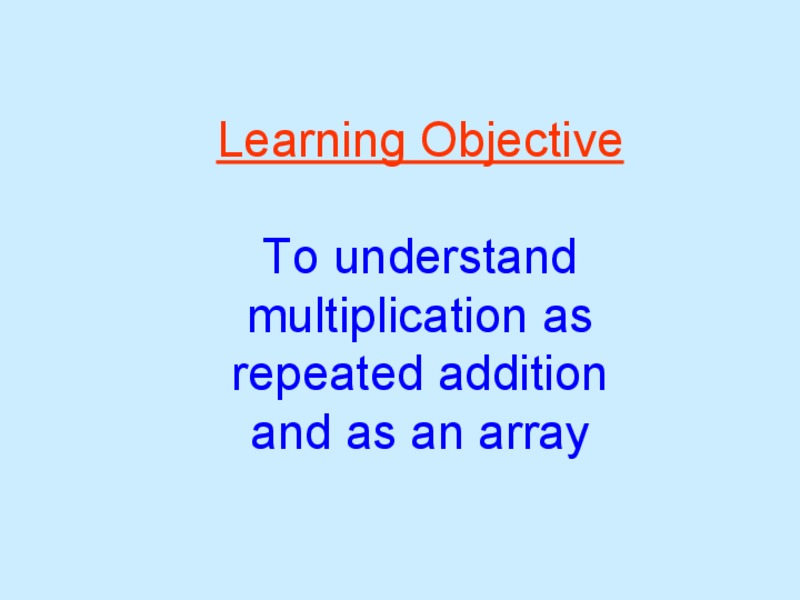 Multiplication as Repeated Addition Presentation