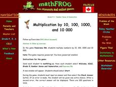 Multiplication by 10 Lesson Plan