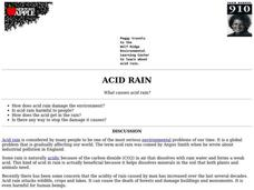 Acid Rain Lesson Plan