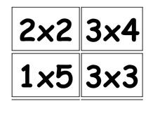 Multiplication Flash Cards Worksheet