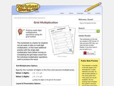 Multiplication Grid Worksheet