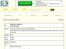 Multiplication Madness Lesson Plan