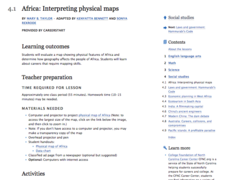 Africa: Interpreting Physical Maps Lesson Plan
