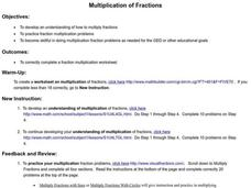 Multiplication of Fractions Lesson Plan