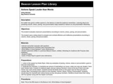 Actions Speak Louder than Words Lesson Plan