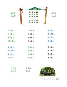 Multiplication Practice 2 Lesson Plan