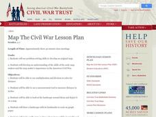 Map the Civil War Lesson Plan