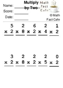 Multiply by Two Worksheet