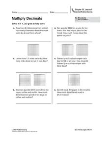 Multiply Decimals Worksheet