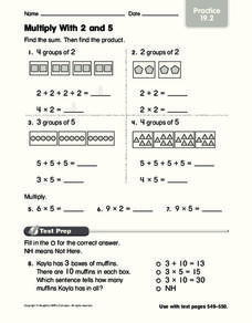 Multiply With 2 and 5 Worksheet