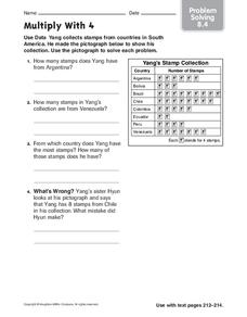 Multiply With 4 Worksheet