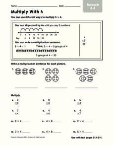Multiply With 3: Reteach Worksheet