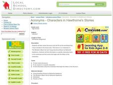 Acronyms - Characters in Hawthorne's Stories Lesson Plan