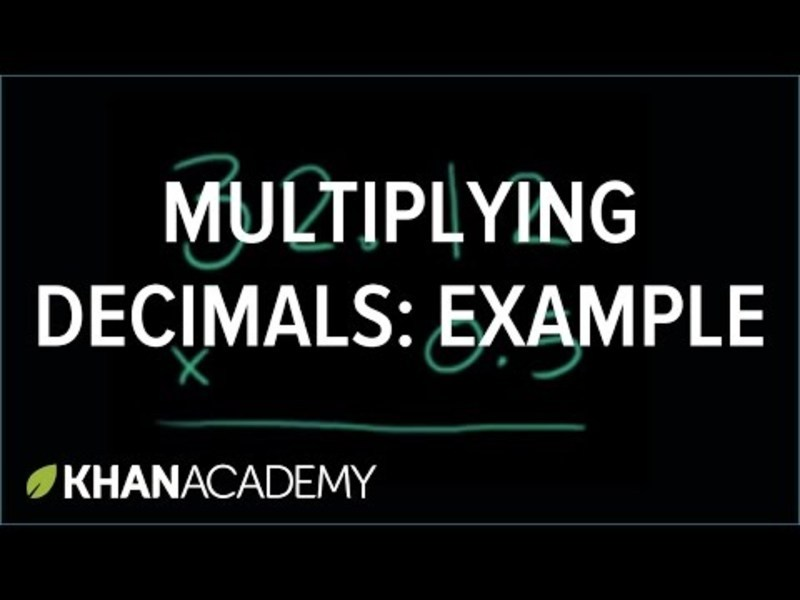 Multiplying Decimals Video