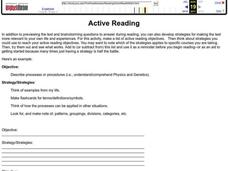 Active Reading Lesson Plan
