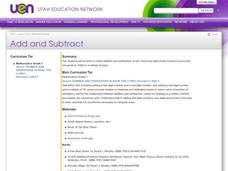 Add and Subtract Lesson Plan