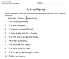 Animal Friends Worksheet