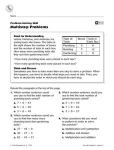 Multistep Problems Worksheet