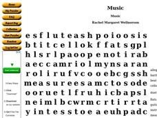 Music Worksheet