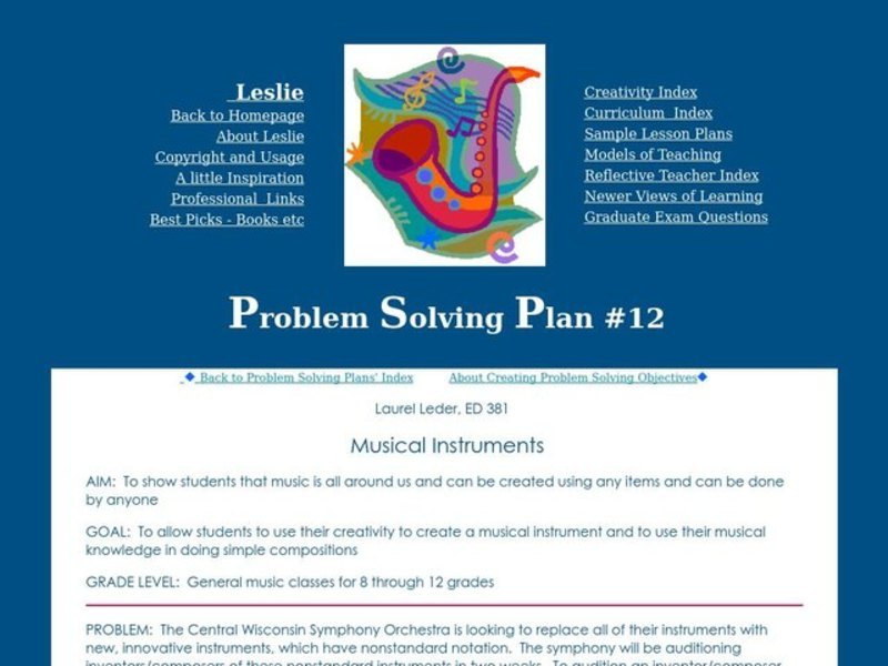 Musical Instruments Lesson Plan