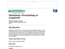 Mutations--Preexisting or Acquired? Lesson Plan