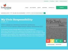 My Civic Responsibility Lesson Plan
