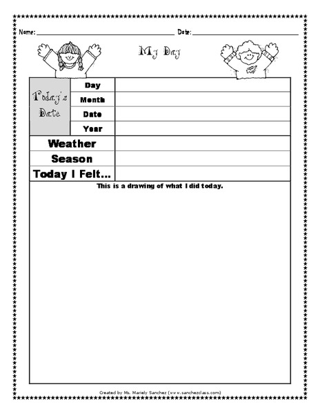My Day Printables & Template