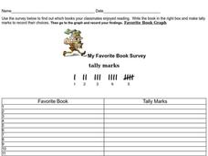 My Favorite Book Survey Worksheet