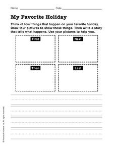 My Favorite Holiday Worksheet