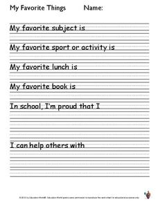 my favorite things lesson plans worksheets reviewed by teachers. Black Bedroom Furniture Sets. Home Design Ideas