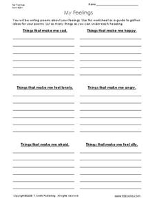 My Feelings Worksheet