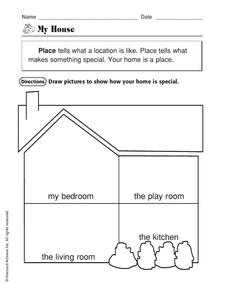 my house worksheet for 1st grade lesson planet. Black Bedroom Furniture Sets. Home Design Ideas