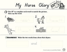 My Horse Glory Worksheet